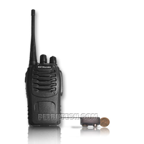 Powerful micro spy bug transmitter VOX in UHF Band