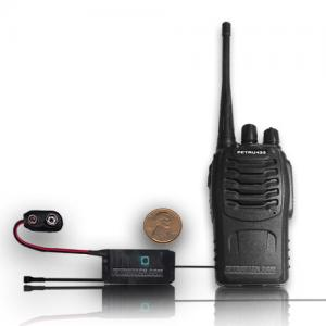 Set UHF VOX 9V transmitter and programmable receiver 433 MHz