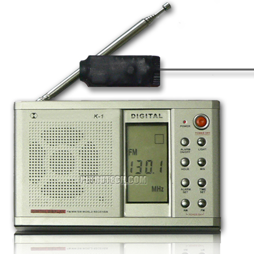 SET receptor digital VHF y E8 microfono estable E8