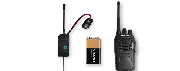 Sets receiver and transmitter UHF